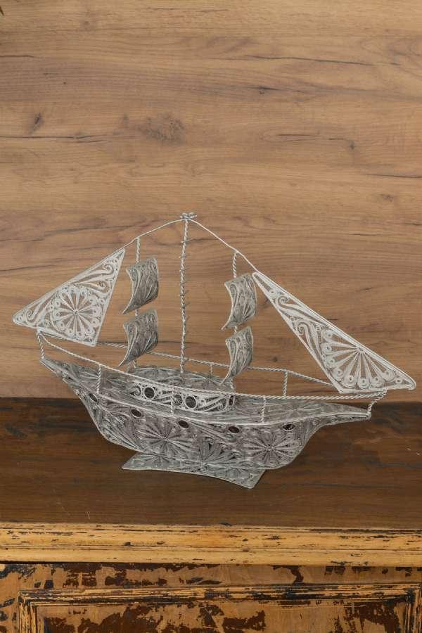 Tel İşlemeli Gemi Maketi