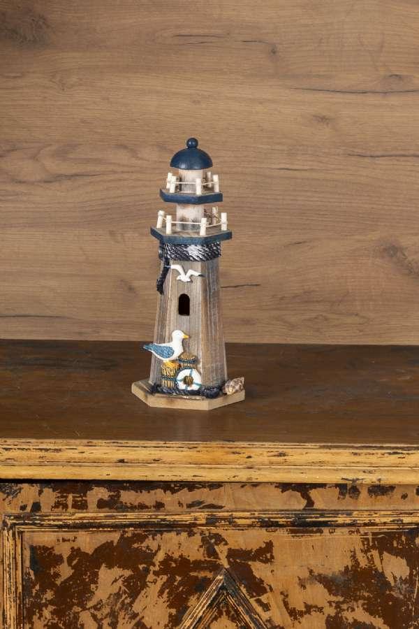 Ahşap Mavi Deniz Feneri