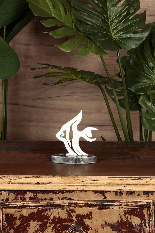 Mermer Dekoratif Balık Biblo