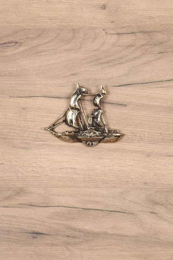 Dekoratif Pirinç Döküm İzmir Yelkenlisi